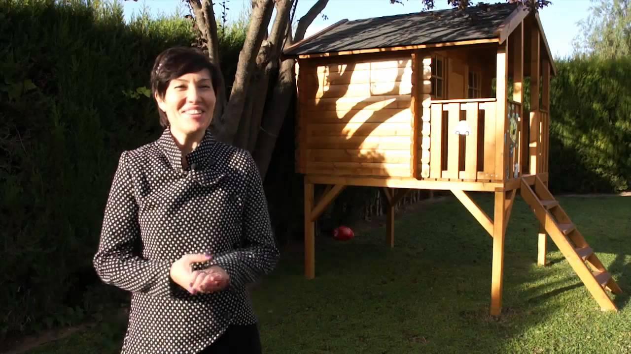 casas de madera grupo tene caseta de jardn para nios en leliana valencia youtube