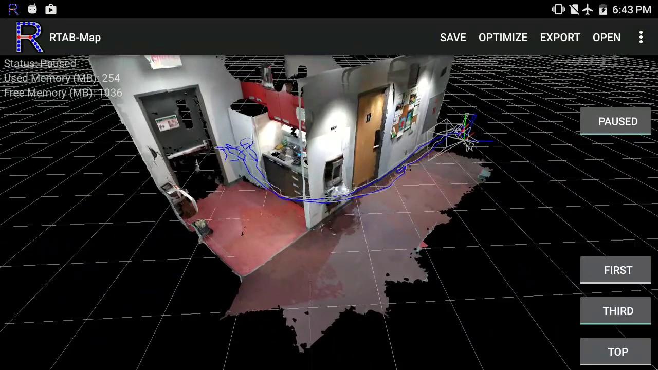 RTAB-Map Tango 0 11 14 on Phab2Pro