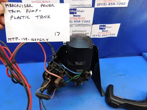 FOR SALE - Power Trim Pump Mercruiser Plastic Tank, Bracket, Wiring $149.95