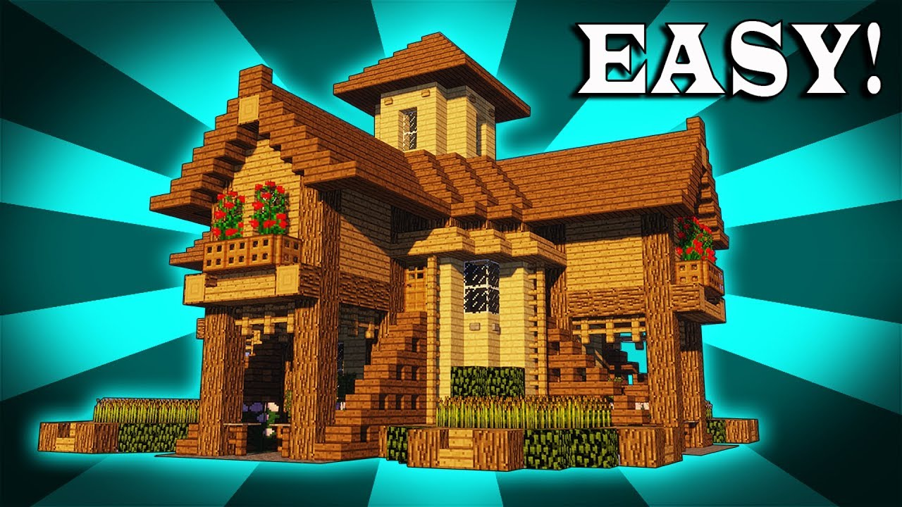 How To Build A EPIC Wooden House In Minecraft! - YouTube
