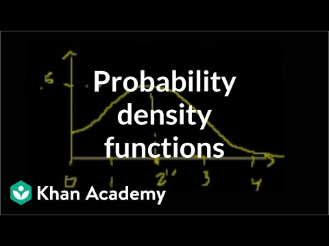 Probability density functions | Probability and Statistics | Khan Academy