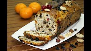 Обеденный Английский Рождественский Фруктовый Хлеб с Орехами. Домашний ресторан®