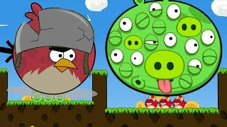 Angry Birds Cannon 3 - HUGE TERENCE KICK GIANT 100 EYES PIGGIES TO RESCUE GIRLFRIEND!