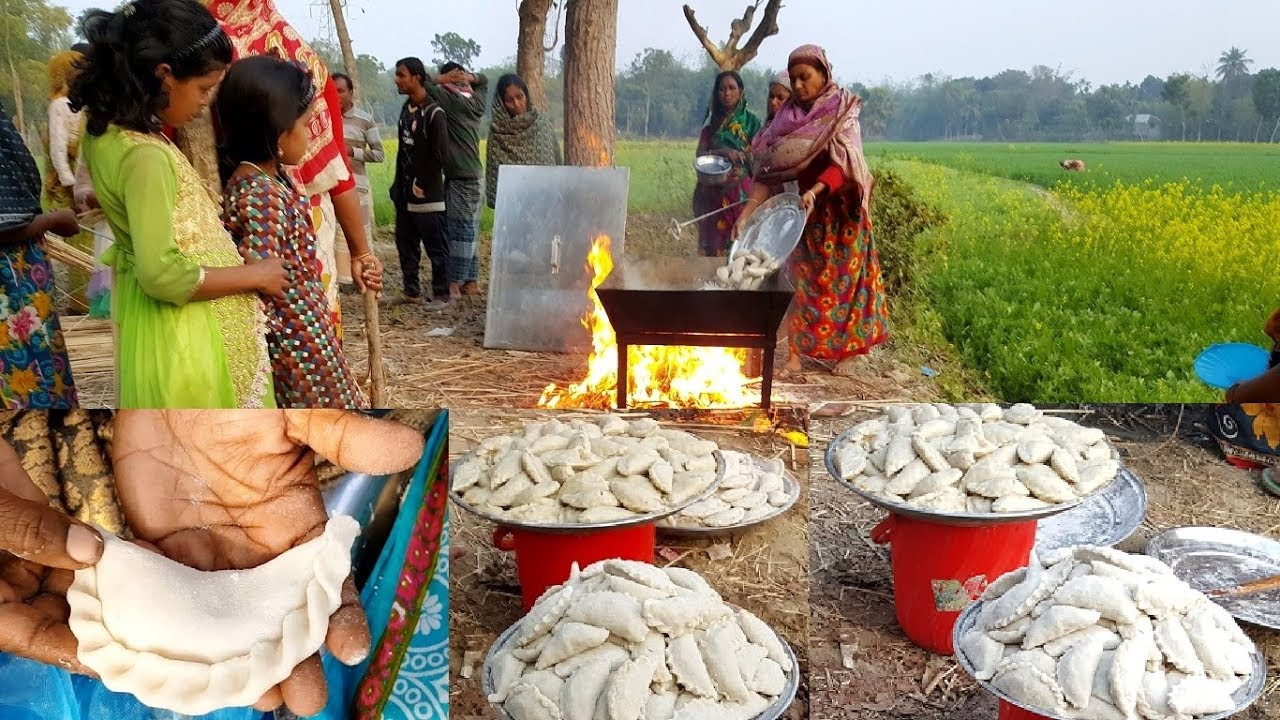 Sweet Cake Making To feed 200+ Kids & Villagers - Traditional Bengali Winter Cake Prepared By Wo