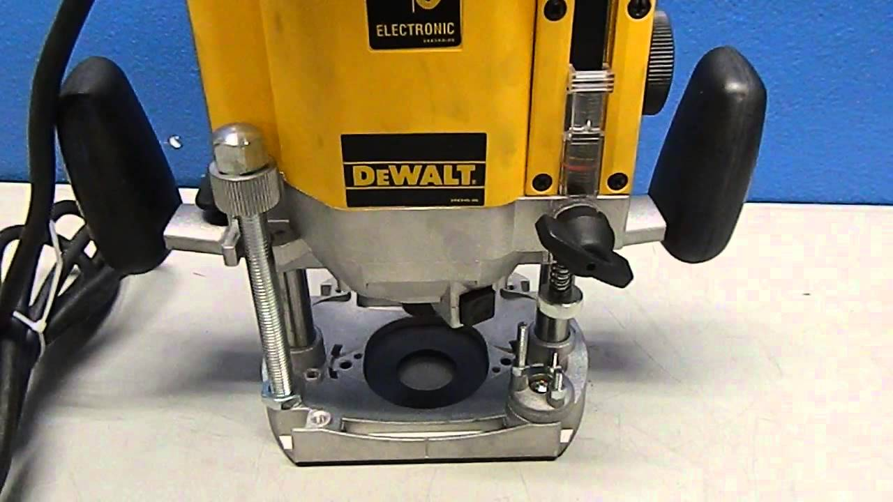 Dewalt electric plunge router demo dw625 youtube greentooth Gallery