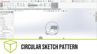 SOLIDWORKS Tutorial - Using the Circular Pattern Tool