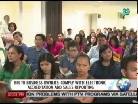 BIR to business owners: Comply w/ electronic accreditation & sales reporting