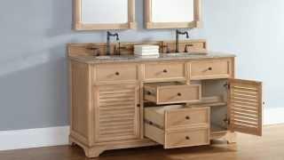 "New James Martin 60"" Savannah Double Bathroom Vanities In Solid Wood From Homethangs.com"