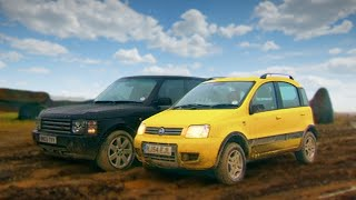 Fiat Panda 4x4 vs Range Rover - Fifth Gear