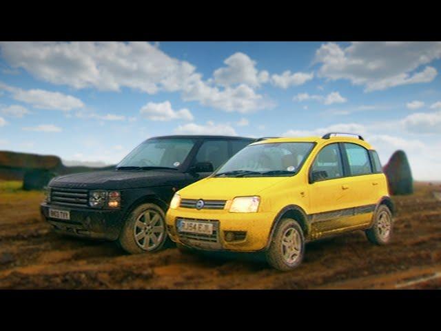 Fiat Panda 4x4 vs Range Rover - Fifth Gear