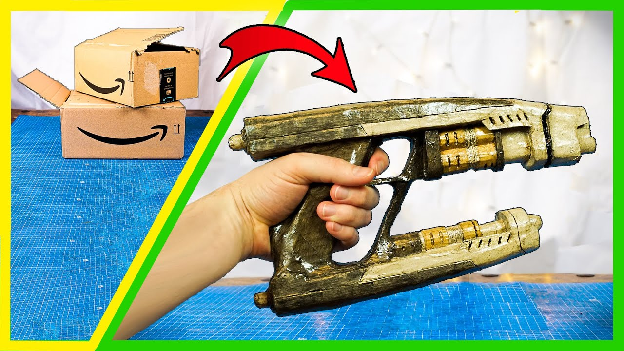 How to make Star Lord gun with CARDBOARD