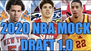 2020 NBA Mock Draft 1.0 (Picks 1-14)  l   Lamelo Ball to the Cavs?