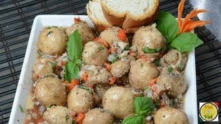 Marinated Mushrooms  - By Vahchef @ Vahrehvah.com