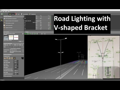 How to create V-shaped bracket in Road Lighting