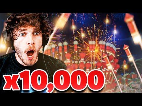 i detonated 10,000 fireworks and this happened |