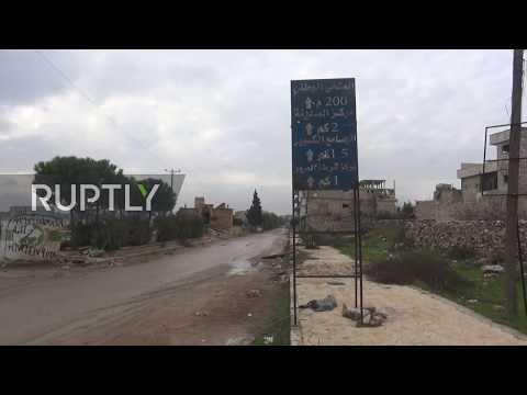 Syria: SAA soldiers enter Maarat al-Numan as they advance in Idlib countryside