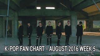 top 40 k pop songs chart august 2016 week 5 fan chart