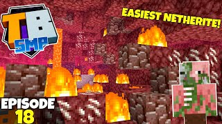 Truly Bedrock S2 Ep18! The BEST/FASTEST Way To Get Netherite! Bedrock Edition Survival Let's Play!