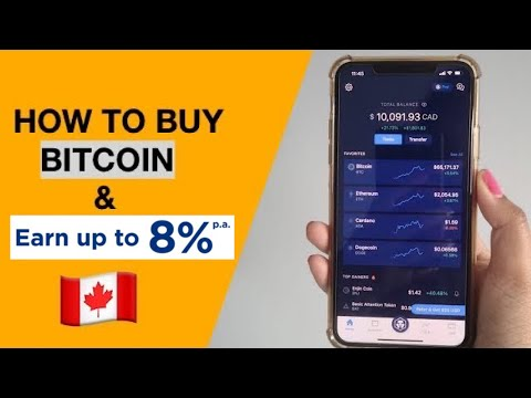 How To Buy BITCOIN U0026 DOGECOIN In Canada   Crypto.com App Tutorial
