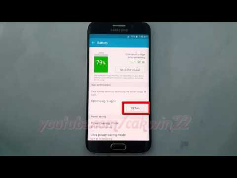 Android Lollipop : How to Set App optimisation as Always Power Saving on Samsung Galaxy S6