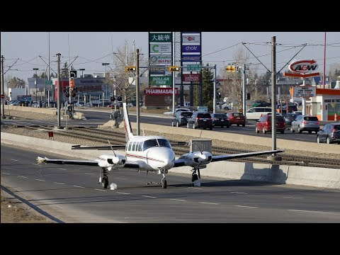 Plane forced to make a dramatic landing on 36th Street N.E. in Calgary