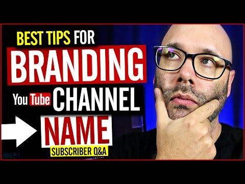 Branding YouTube Channel Name