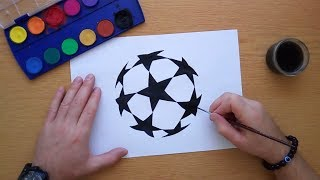 How to draw the UEFA Champions League logo