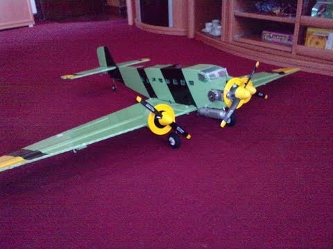 Como hacer un Avion RC JUNKERS JU-52-Polipropileno-coroplast-carton plastico-