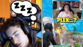 YOSOYPLEX se Duerme mientras jugamos Fortnite y le DESPIERTO ASI...😱
