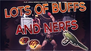 TF2 - OMG SO MANY BUFFS + NERFS!!! Jungle Inferno Update Day 4