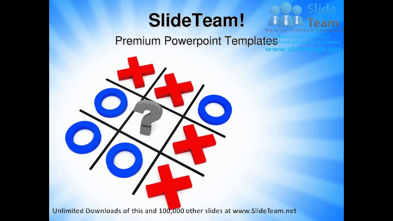 tic tac toe powerpoint template choice image - templates example, Modern powerpoint