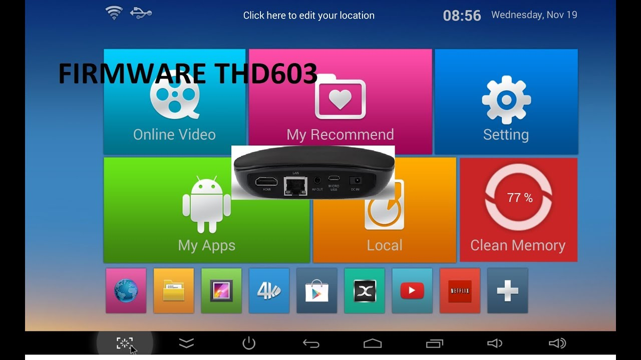 Android Set-top box THD603QC Firmware Software download Custom rom MBOX  thd603