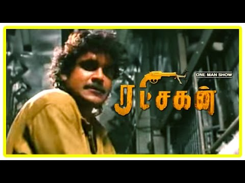 Ratchagan Tamil Movie Scenes | Nagarjuna fights the ten men | Sushmita Sen | Girish Karnad