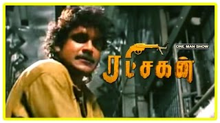 Ratchagan Tamil Movie Scenes | Nagarjuna fights the ten men | Sushmita Sen | Girish Karnad