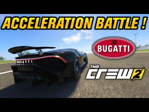 THE CREW 2 : Bugatti Acceleration Battle 0-440-0 Km/h ! |