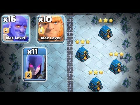 New Ground War Trend 2019! 16 Bowler 10 Giant 11 Witch Destroy 3Star Max TH12 Base | Clash Of Clans