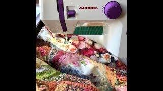 Лоскутный эфир 48. Как пришить кайму к лоскутному одеялу? 5 простых шагов.
