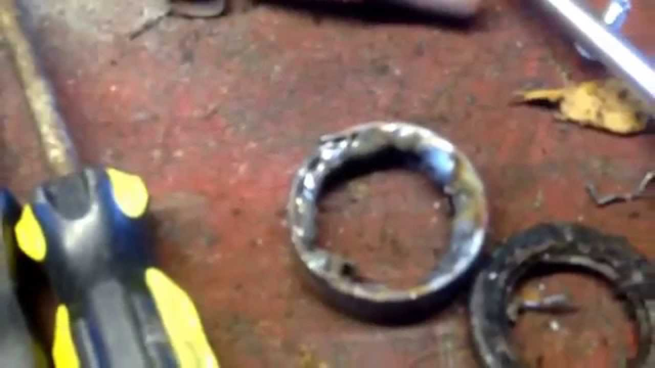 how to remove honda atv swingarm bearings part 1 look at description