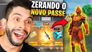 INCRÍVEL!!! JÁ ZEREI O NOVO PASSE DO FREE FIRE E EQUIPEI TUDO!!!