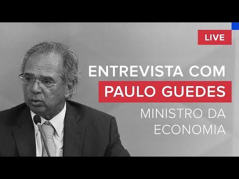 Paulo Guedes, entrevista exclusiva, ao vivo, com o ministro da Economia