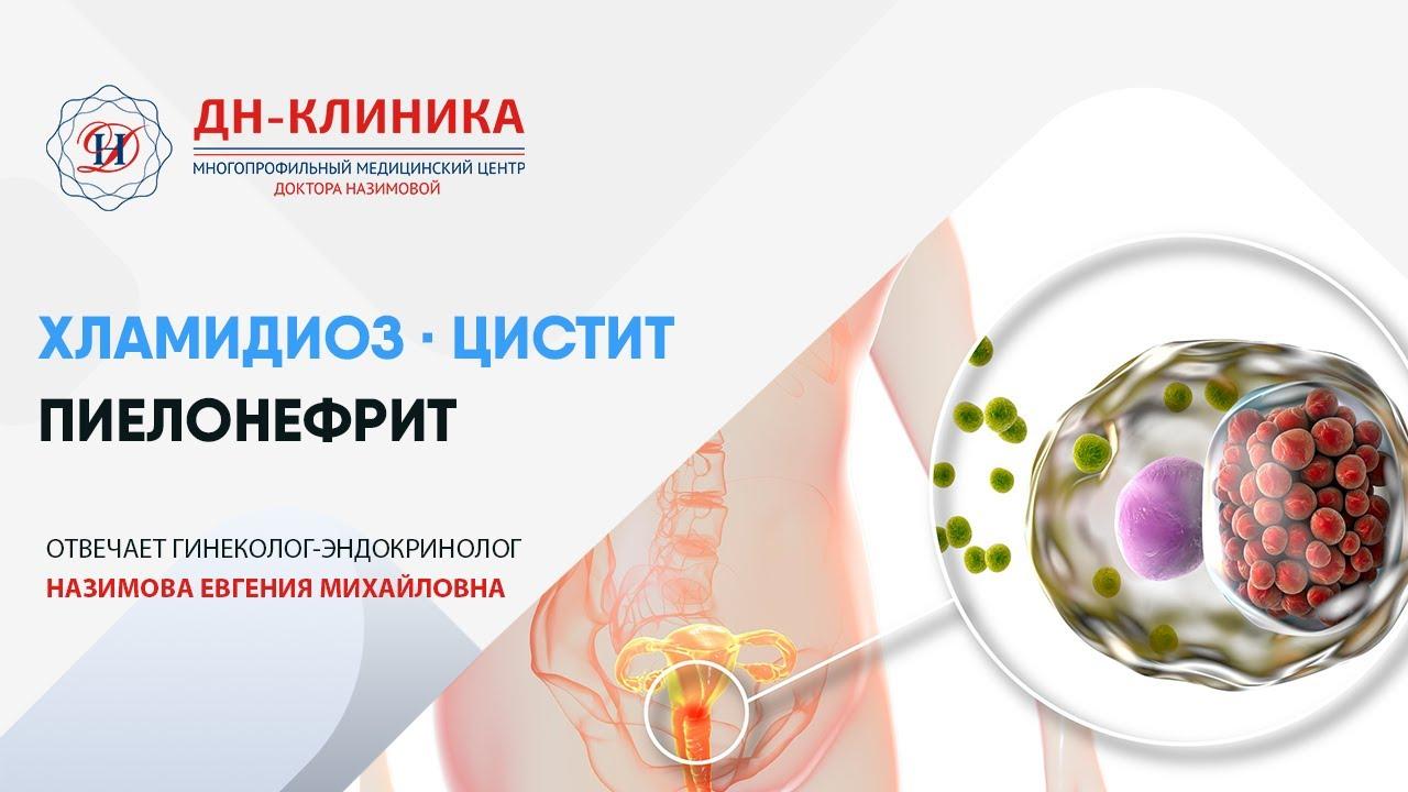 Хламидиоз. Пиелонефрит почек. Цистит.ТДК-2006-8.Клиника Доктора Назимовой.