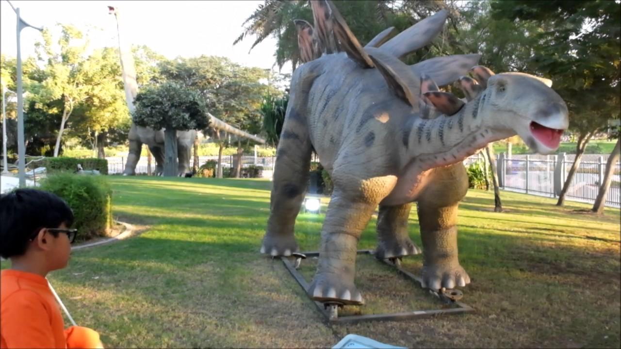 Dubai Garden Glow Dinosaur Park YouTube