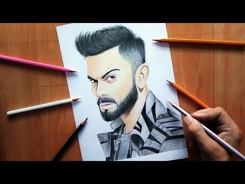 Realistic Drawing Of Virat Kohli