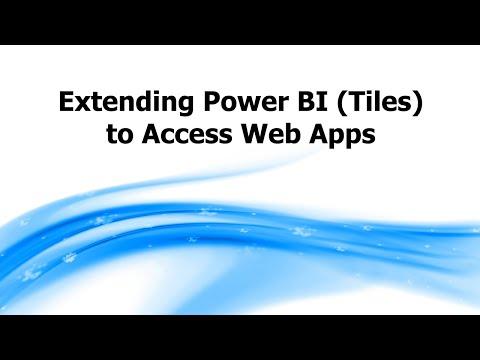 Extending Power BI (Tiles) to Access Web Apps