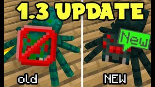 NEW Minecraft 1.3 Update MOB and BLOCK CHANGES! (MCPE 1.3)