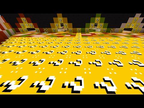 Minecraft 1v1v1v1 LUCKY BLOCK PARKOUR RACE! (Minecraft Lucky Block Mod)