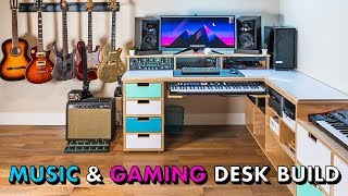 Building the ULTIMATE Music Studio & Gaming Desk Setup // Woodworking