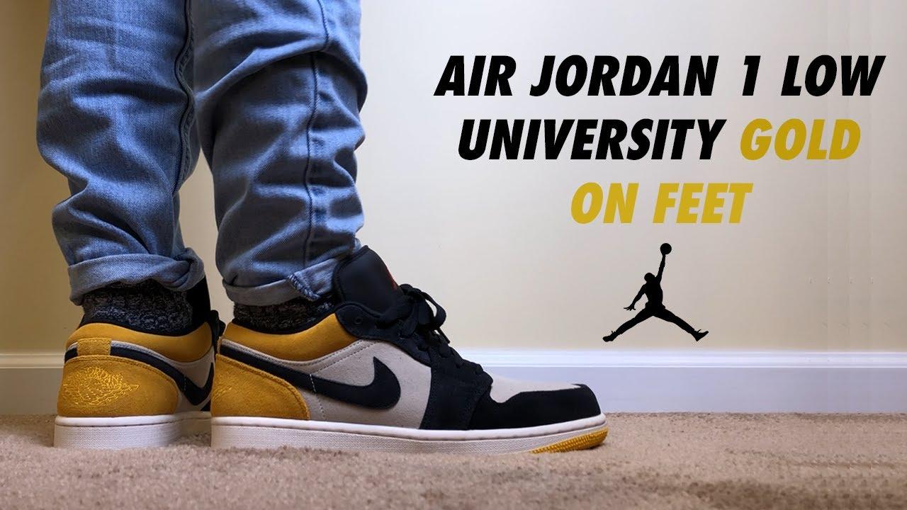 Air Jordan 1 Low University Gold Sail