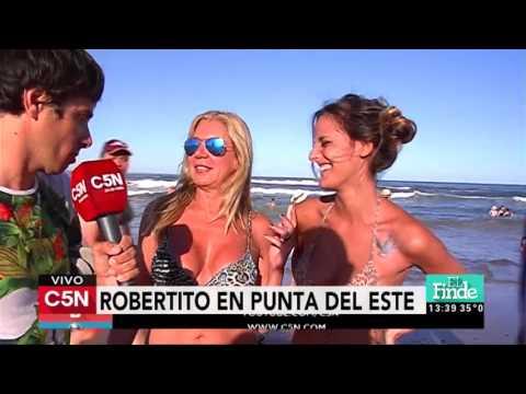 C5N - Verano 2016: Robertito en las playas de Punta del Este