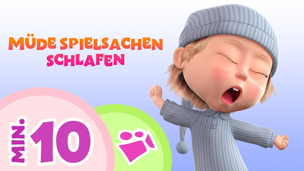 TaDaBoom German 🎶 MÜDE SPIELSACHEN SCHLAFEN  🎶 Children's songs mix 🎬 Masha and the bear